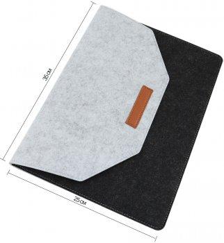 """Чехол для ноутбука Traum 13"""" с дополнительным чехлом для кабеля Black/Grey (7112-42)"""