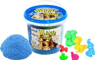 Кинетический песок Strateg Magic sand в ведре 1 кг Голубого цвета (4820175997808)