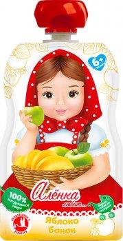 Упаковка пюре Аленка любит Яблуко-Банан 90 г х 12 шт. (14813163004203)