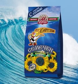 Насіння соняшника смажене «Від Мартіна» добірні «Преміум» солоні 100 г