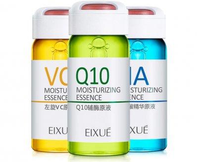 Комплект увлажняющих сывороток EIXUE ESSENCE LIQUID (Q10, гиалурон, коллаген, витамин С) 6 ампул по 10 мл.