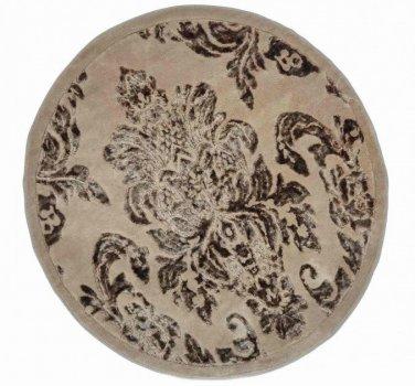 Килимок для ванної Arya Osmanli D-120 см коричневий арт.TR1004843
