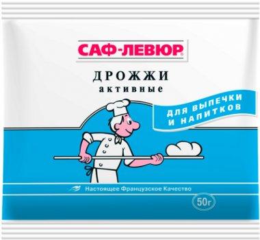 Упаковка сухих дрожжей Саф-Левюр хлебопекарских активных 50 г х 30 шт (351666215_4820074790029)