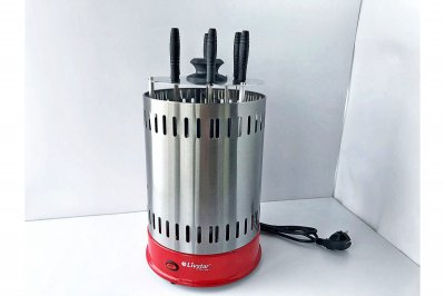 Електро Шашличниця Вертикальна для Будинку Livstar LSU-1320 1000 W | Електрична гриль-шашличниця