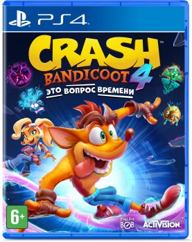 Игра Crash Bandicoot 4: It's About Time для PS4 (Blu-ray диск, Russian subtitles)