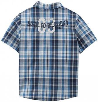 Рубашка для мальчика 3pommes 12035 синяя в клетку