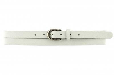 Женский кожаный узкий ремень J.K. 1.5 см для джинсов или платья белый 100-120 см (JK1616)
