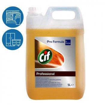 Средство для ежедневного очищения деревянных поверхностей пола мебели Cif Liquid Wood Cleaner концентрат 5л