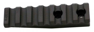 Планка Spuhr A-0032 для моноблоків кілець Spuhr. 7 слотів. Довжина - 75 мм. Висота - 14 мм. Профіль - Picatinny (3728.00.06)