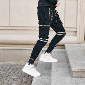 Спортивные штаны Пушка Огонь Flare черные