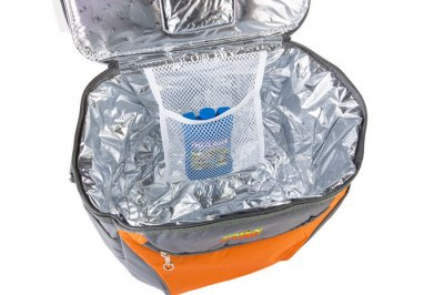 Сумка-холодильник 15л + акумулятор холоду GREEN CAMP Сірий з оранжевим,термосумка