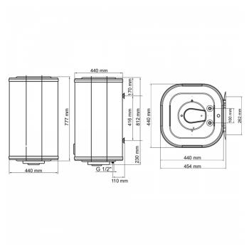 Водонагрівач ARTI WH Cube Dry 80L/2