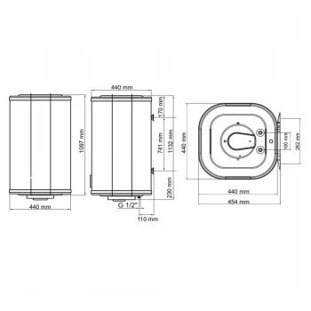 Водонагрівач ARTI WH Cube 120L/1