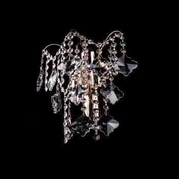 Кришталева бра на 2 лампочки (золото) P5-E1769/2W/FG
