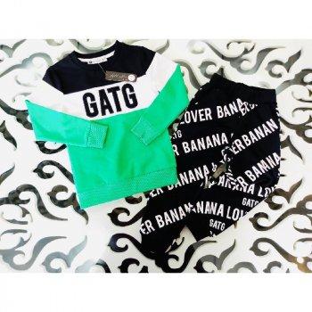 Реглан+брюки для мальчика H.A HA 389 зеленый (302028)