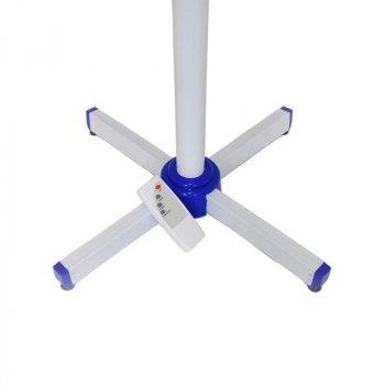 Вентилятор напольный с таймером с пультом Domotec тихий для дома бесшумный Синий MS1621