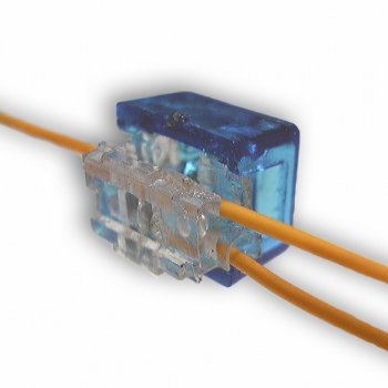 Соединитель витой пары скотчлок Scotchlok на 2 провода 0,4…0,7 мм, 100 штук (KD-TM042-B)
