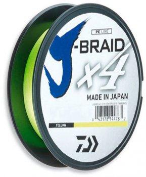 Шнур Daiwa J-Braid X4E 0.13 мм - 135 м Yellow (12740-013)