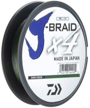 Шнур Daiwa J-Braid X4E 0.19 мм - 135 м Dark Green (12741-019)