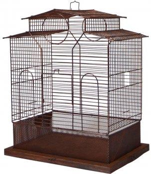 Клетка для птиц Лорі Loft Ирена 53 х 43 х 31 см Коричневая (4823094305433)