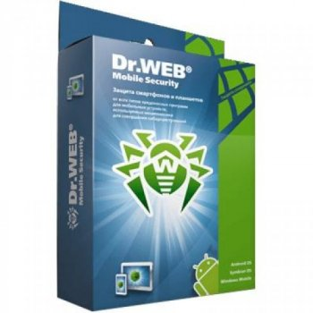 Антивірус Dr. Web Mobile Security + Компл. захист 2 моб прис 1 рік ел. ліц. (LHM-AA-12M-2-A3)