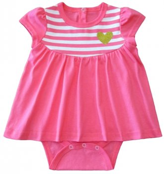 Боди-платье Кена 117611-03 Розовое