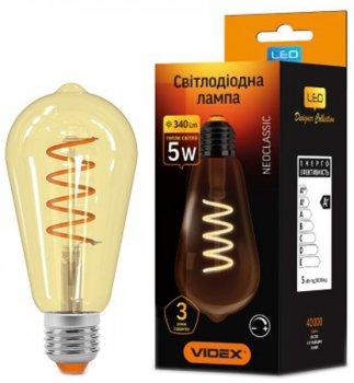 Світлодіодна лампа VIDEX Filament ST64FASD 5W E27 2200K 220V димована (25014)