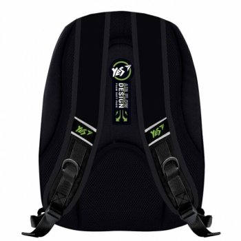 Рюкзак школьный YES T-57 Strokes черн/зел 558355