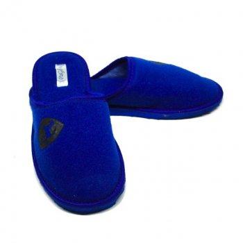 Комнатные тапочки Pago Ферари черная эмблема Синие (М-29062)