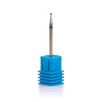 Фреза алмазна Nail Drill для обробки кутикули (Кулька), 001 023B, діаметр 2,3 мм (синя насічка)