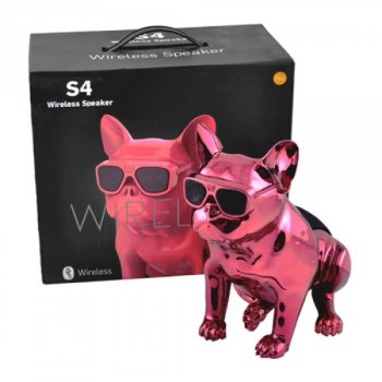 Bluetooth-колонка Aerobull S4 BIG DOG METALLIC c радіо , USB , червона