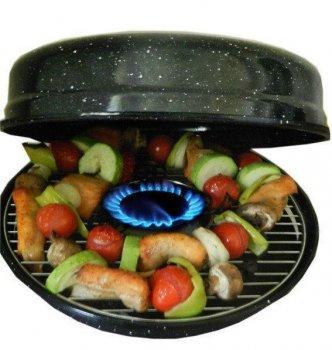 Сковорода гриль-газ Benson BN-801 с эмалированным покрытием 33 см