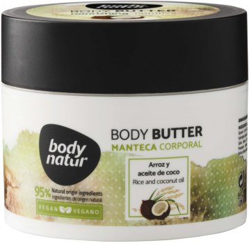 Батер для тіла Body Natur Body butter rice and Coconut oil 200 мл (8414719408088)