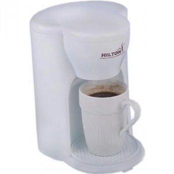 Кофемашина для дома Hilton KA-5414 White 330 Вт капельная кофеварка для кофе и чая с многоразовым съемным фильтром + чашка в подарок (KA-5414)