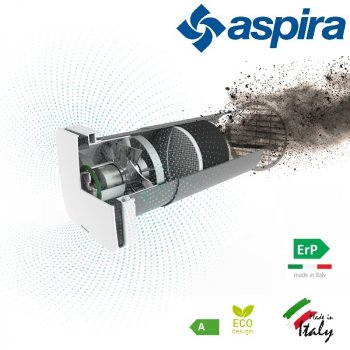 Ведомый блок для децентрализованной рекуператора воздуха Aspira Rhinocomfort SAT 160 RF ErP (13388)
