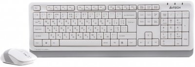 Комплект A4tech Fstyler FG1010, бездротовий, клавіатура+миша, White+Grey, USB