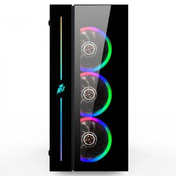 Корпус 1stPlayer B7-A-R1 Color LED Black без БЖ