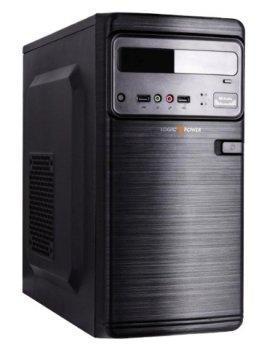 Корпус Logicpower 6106-400W 8см, 2xUSB2.0, Black