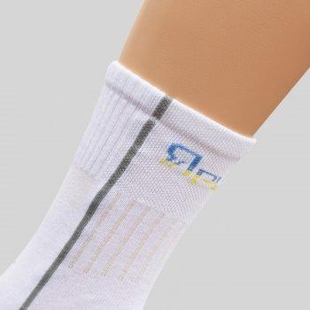 Шкарпетки трекінгові літні Ярунь середні білі
