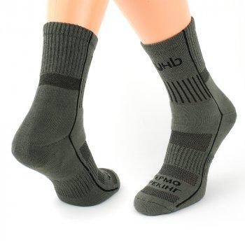 Шкарпетки трекінгові зимові Ярунь середні оливкові