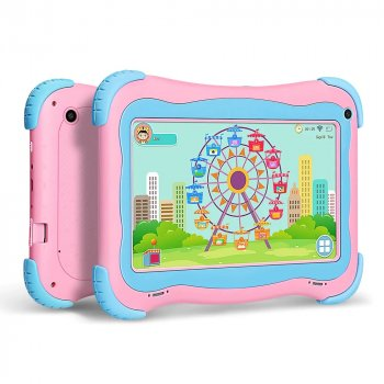 Детский планшет с родительским контролем Yuntab Q91 Pink