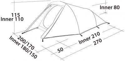 Палатка Easy Camp Energy 300 Gold Red (928299)