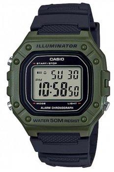 Наручний чоловічий годинник Casio W-218H-3AVEF