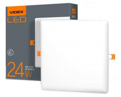 Світильник точковий VIDEX 24W 4100K 220V (25143) без рамок