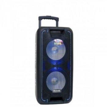Портативна колонка bluetooth AFG BL-10100 Premium, чорна, акустика, акустична система, музичний центр, Bluetooth ( блютус), для будинку, дачі, кафе, природи, акумуляторна СИСТЕМА КАРАОКЕ З МІКРОФОНОМ