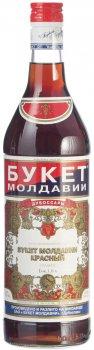Вино ароматизоване Букет Молдавії Червоний червоне солодке 16% 0.5 л (4840006000415)