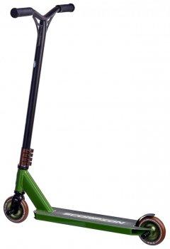 Трюковий самокат Maraton Scorpion Original 2020 трюкової чорний зелений для фрістайлу 1284