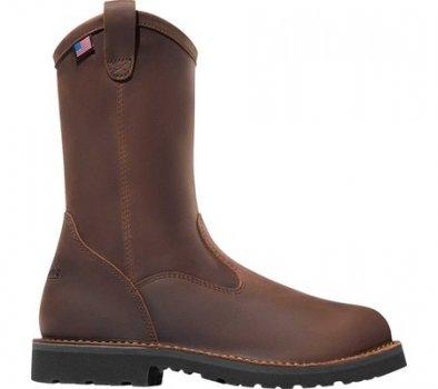 "Мужские сапоги Danner Bull Run 11"" Round Still Toe Wellington Boot Brown Full Grain Leather (141833)"