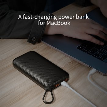 Повербанк BASEUS Powerful 20000mAh |Type-C, PD, QC3.0|. Black