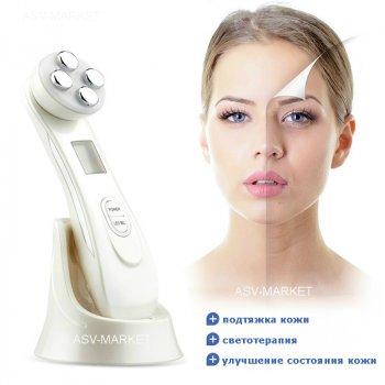 Массажер для лица и тела с эффектом лифтинга Beauty instrument электромиостимуляция светотерапия RF - подтяжка кожи